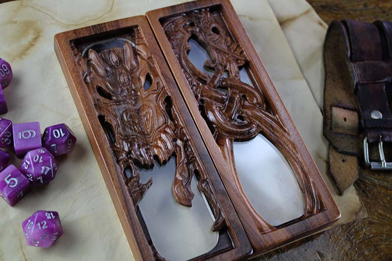 Bolivian Rosewood Dragon Glass