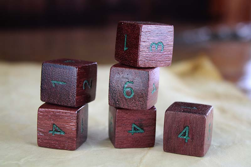 Purpleheart D6 Set of 6