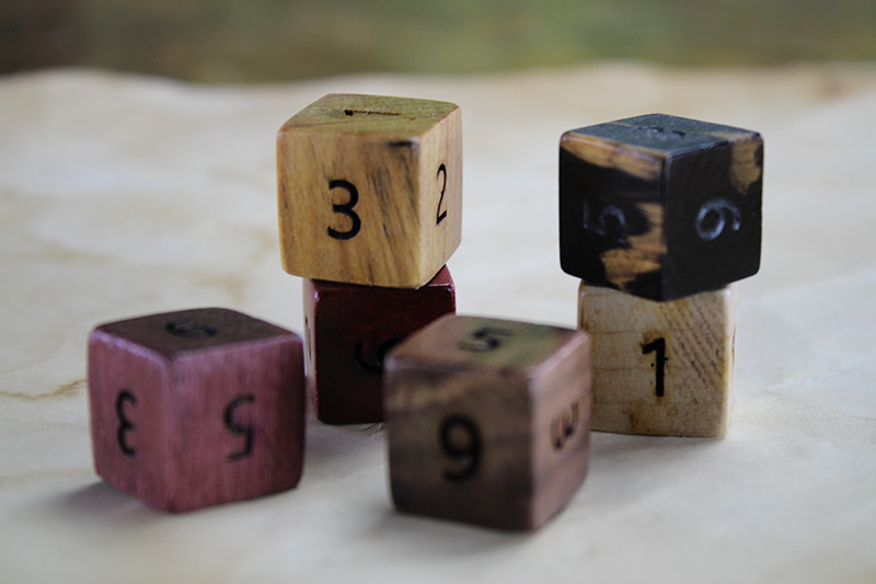 Mixed Wood Species D6 Set of 6