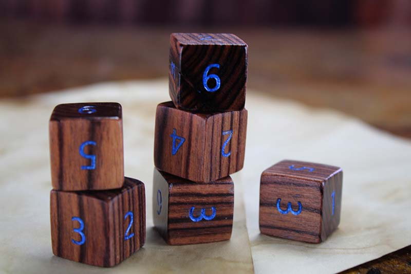 Honduran Rosewood D6 Set of 6
