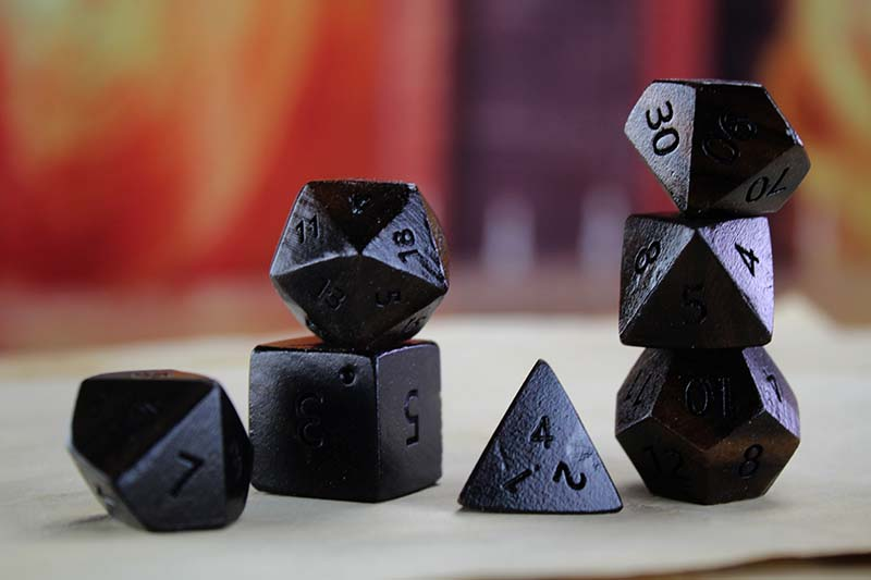 Striped Indian Ebony Polyhedral Set