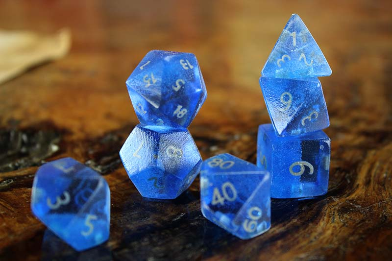 Blue Resin Polyhedral Set