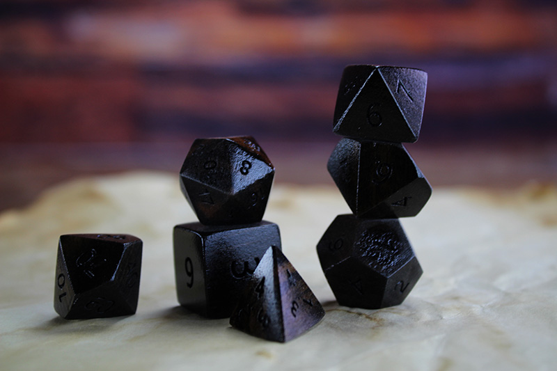 Mexican Ebony Polyhedral Set