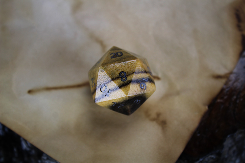 Black and White Ebony D20