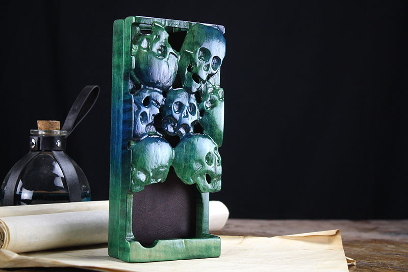 Moss Skulls Dice Tower