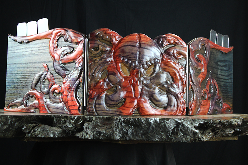 Selectively Stained Cthulhu Valhalla Screen & Dice Tower