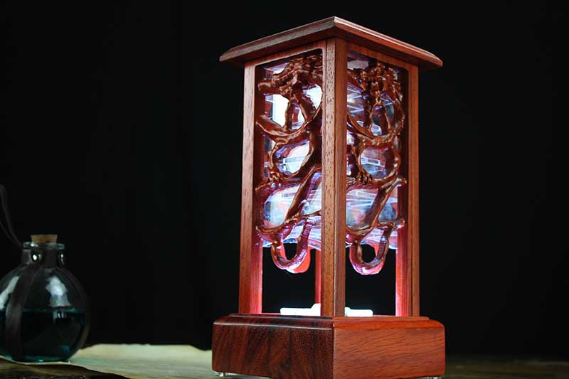 Padauk Eastern Dragon Lantern