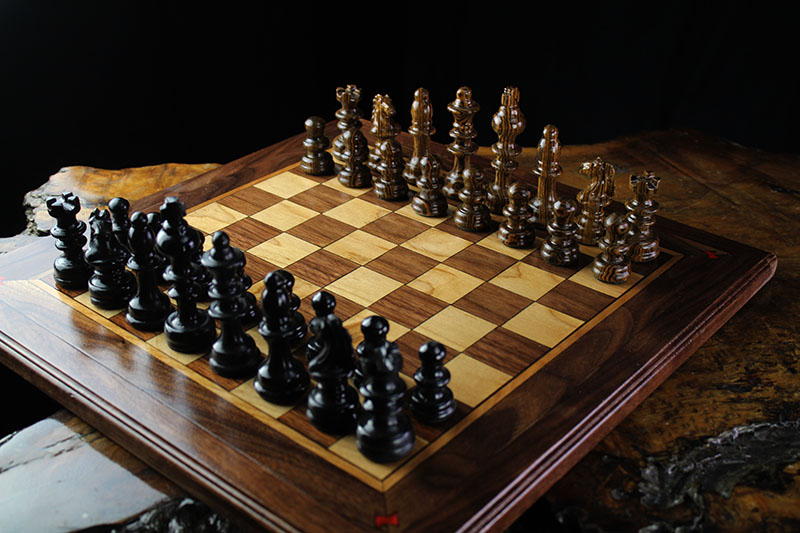 African Blackwood & Bocote Magnetic Chess Set