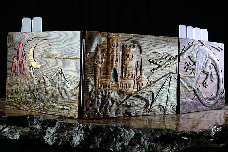 Selectively Stained Castle Valhalla Screen