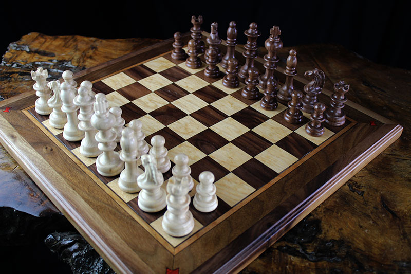 Black Walnut & Maple Chess Set
