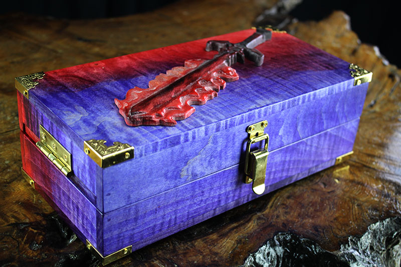 Flaming Sword Adventure Case with Red Lights