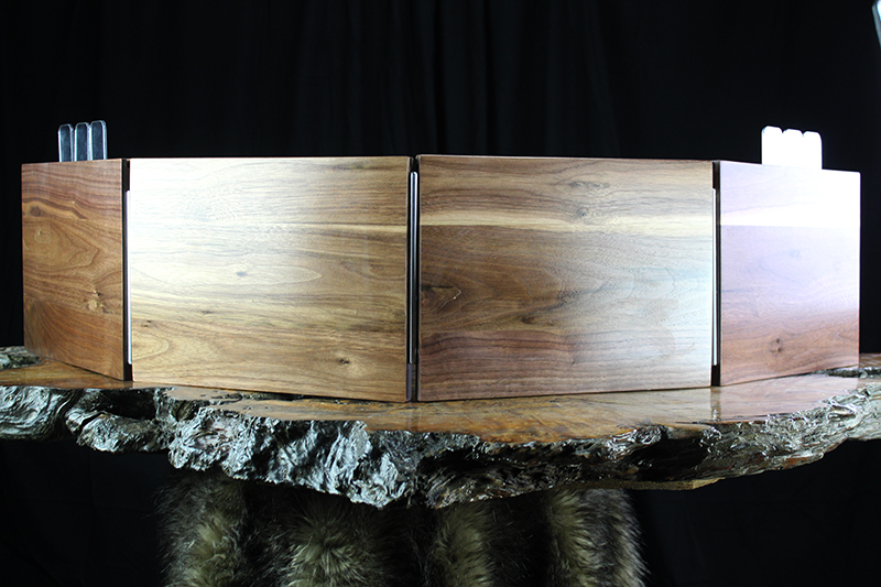Black Walnut 4 Panel Valhalla Screen