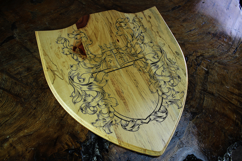 Spalted Tamarind Game Room Crest