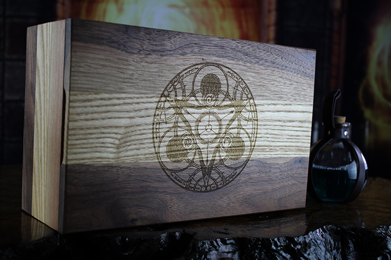 Black Walnut & White Ash Gaming Box