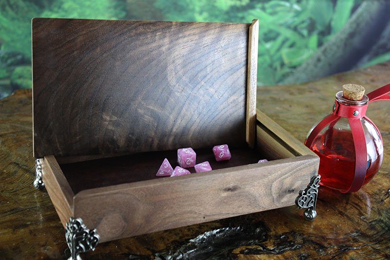 Black Walnut Dice Chest