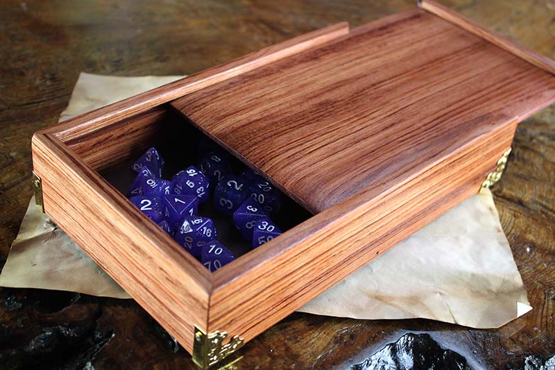 Bubinga Dice Chest