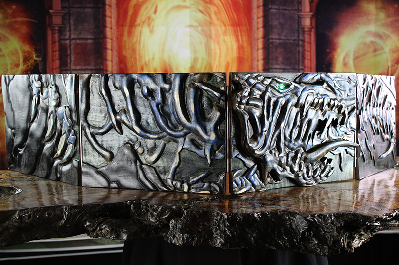 Selectively Stained LED Undead Dragon Valhalla Screen