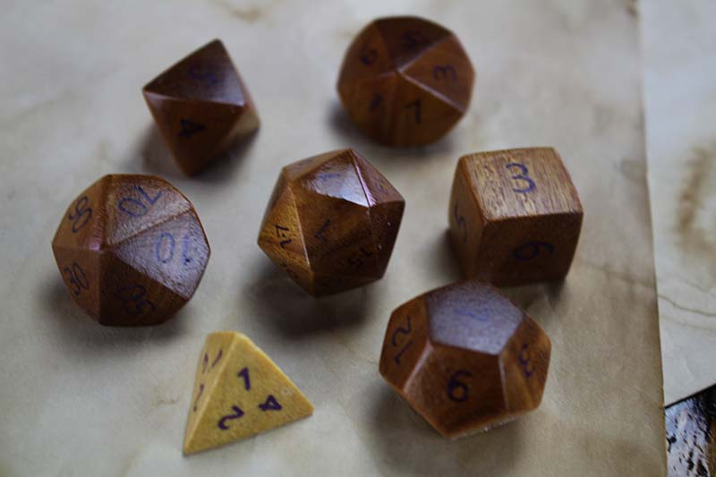 Yellowheart Polyhedral Set