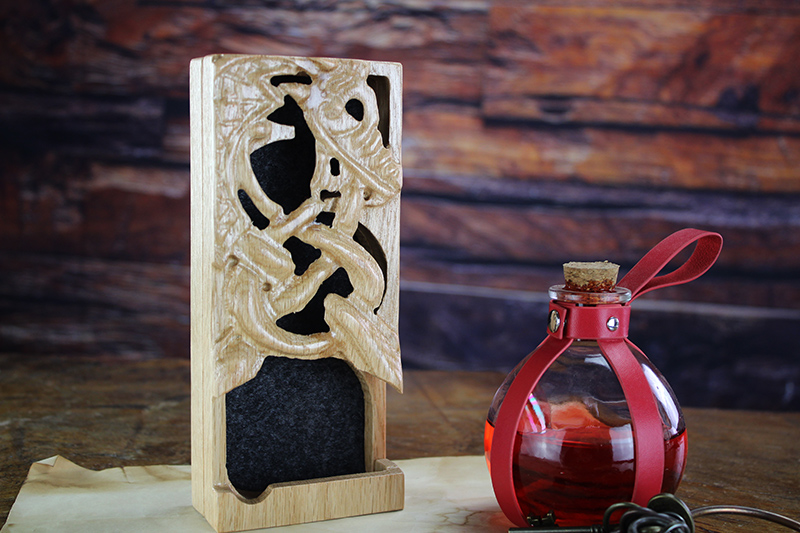 Red Oak Ouroboros Dice Tower