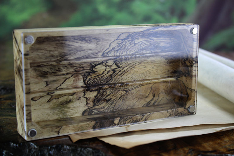 Spalted Tamarind Looking Glass XL