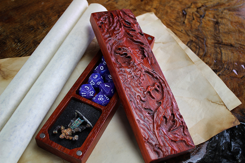Padauk Phoenix Dragon Sheath