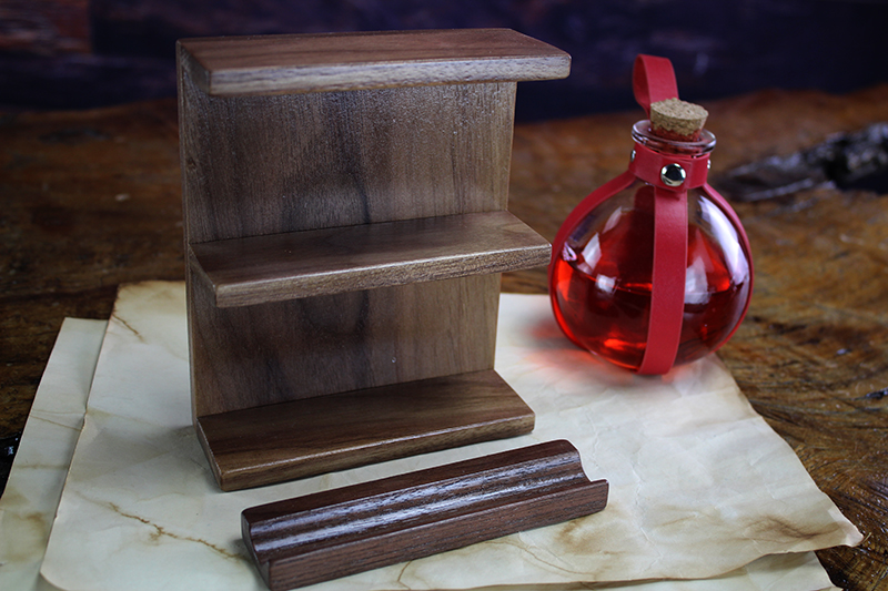 Black Walnut Shelf & Penholder Accessory Pack