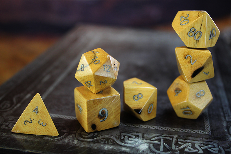 Black and White Ebony Polyhedral Set