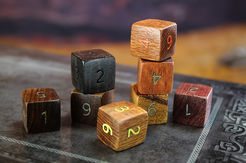 Mixed Wood Species D6 Set of 8