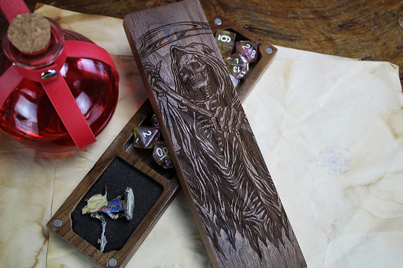 Black Walnut Grim Reaper Dragon Sheath