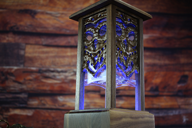 Black Walnut Owl Lantern