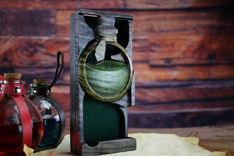 Selectively Stained Potion Dice Tower