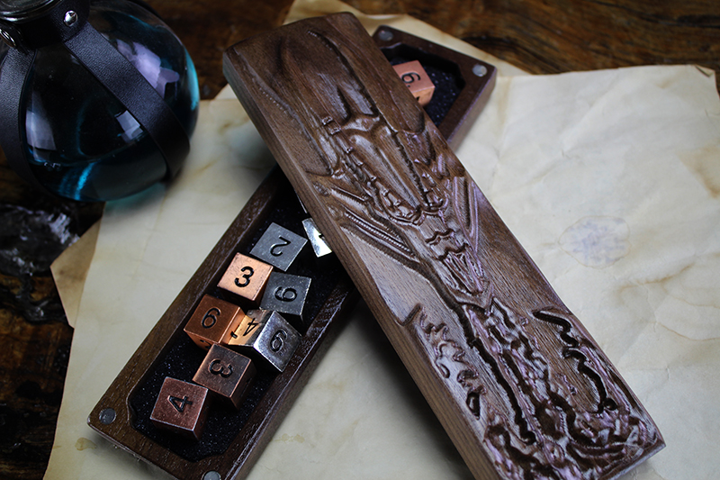 Black Walnut Fire Dragon Dragon Sheath