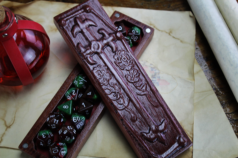 Purpleheart Coffin Chest Dragon Sheath