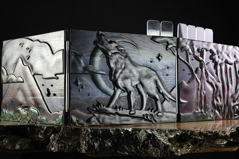 Selectively Stained Howling Wolf Valhalla Screen