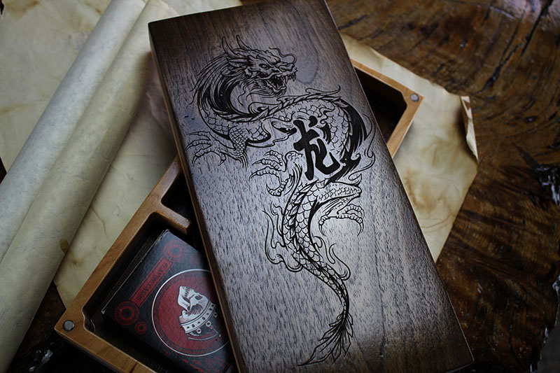 Black Walnut Eastern Dragon Sentinel