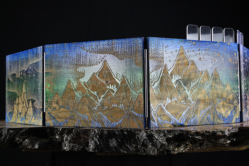 Selectively Stained Aurora Borealis Valhalla Screen