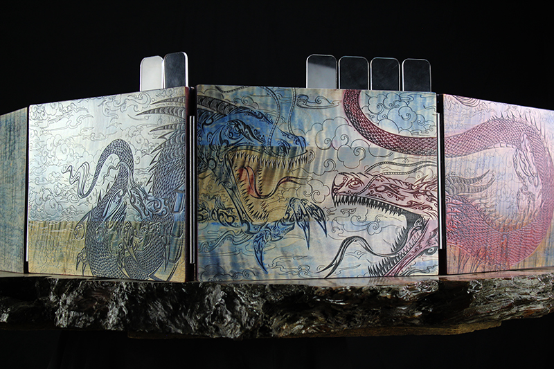 Watercolor Dual Dragons Valhalla Screen
