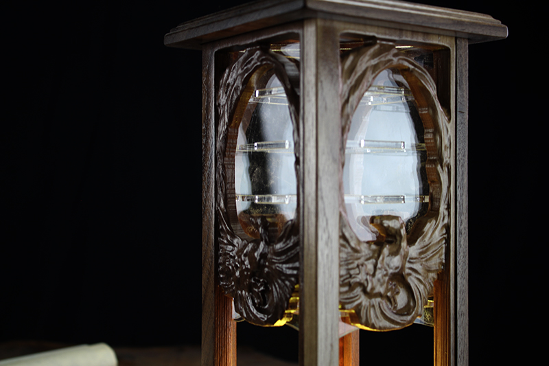 Black Walnut Phoenix Lantern