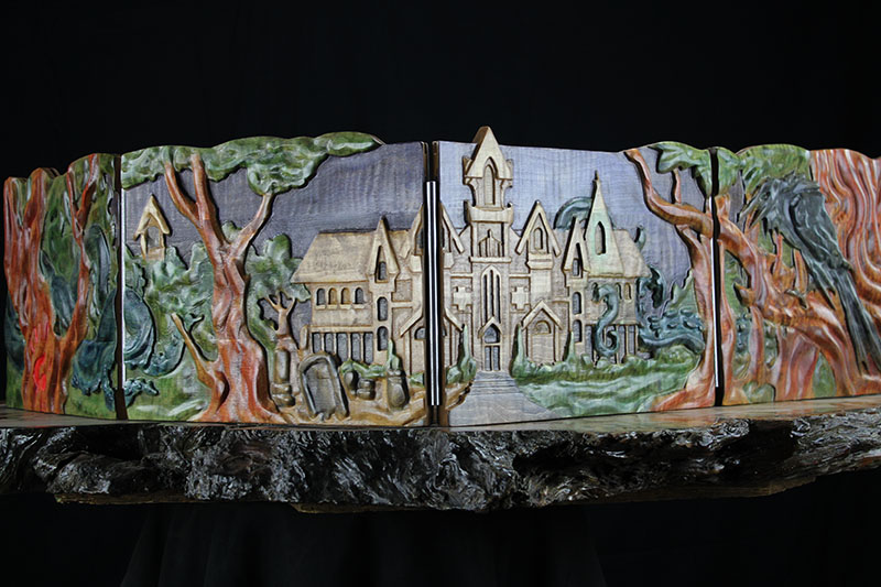 Selectively Stained Haunted Mansion Valhalla Screen & Dice Tower Accessory